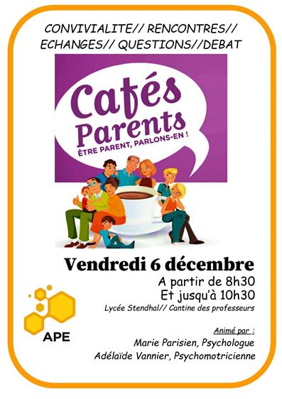 Cafe des parents decembre 2019