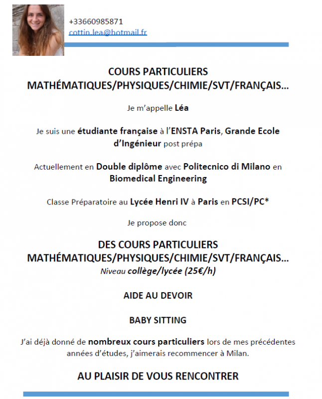 Cours particuliers 1